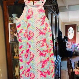 Lilly Pulitzer HG Lobstah Roll Shift Dress 👗 SZ 2